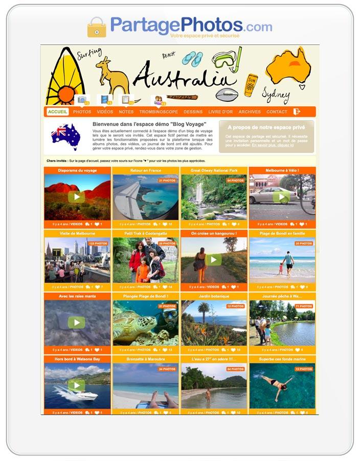 Carnet de voyage en ligne