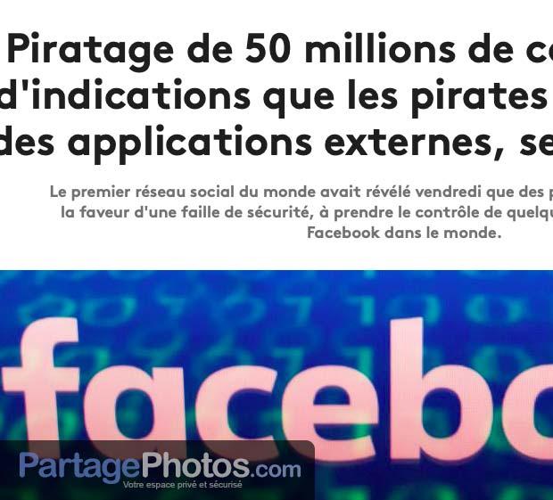 Piratage de photos sur Facebook