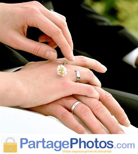 Partage sécurisé des photos de mariage