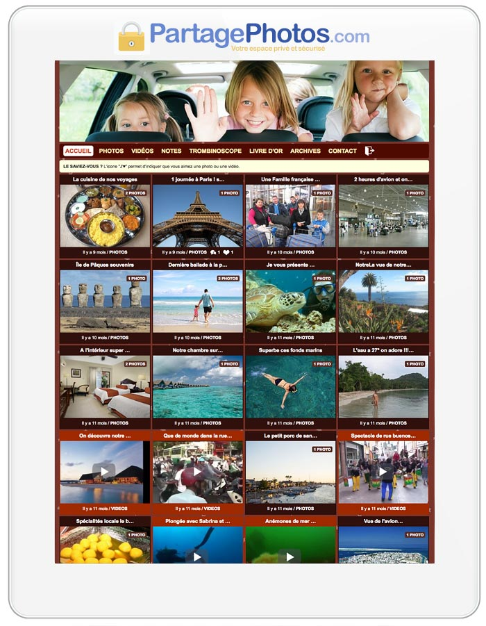 Partager des photos de famille, des vidéos, des notes, en privé avec vos proches et votre famille éloignée est possible !