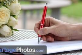 Cartes de remerciements avec accès au blog mariage
