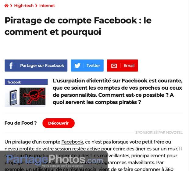 Le partage photo privé sur Facebook ? à oublier