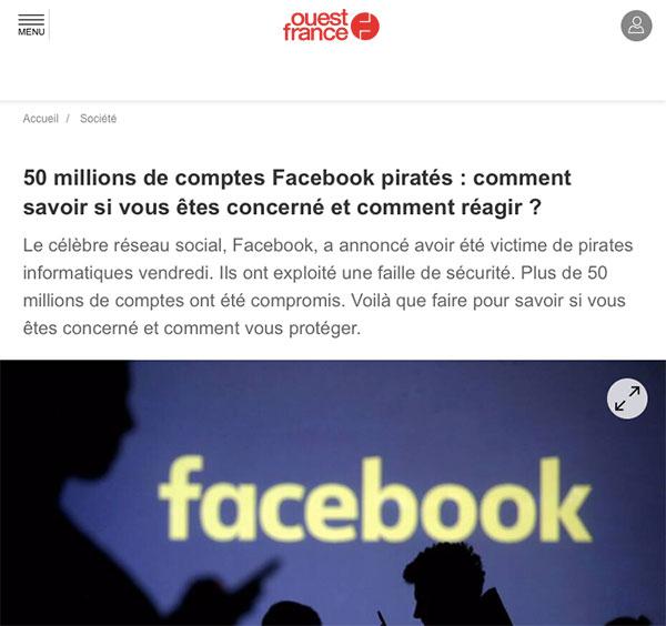 En ce qui concerne Facebook, de nombreux risques sont engendrés par l'utilisation du réseau social. Un compte soi disant privé n'empêchera pas de se faire pirater...