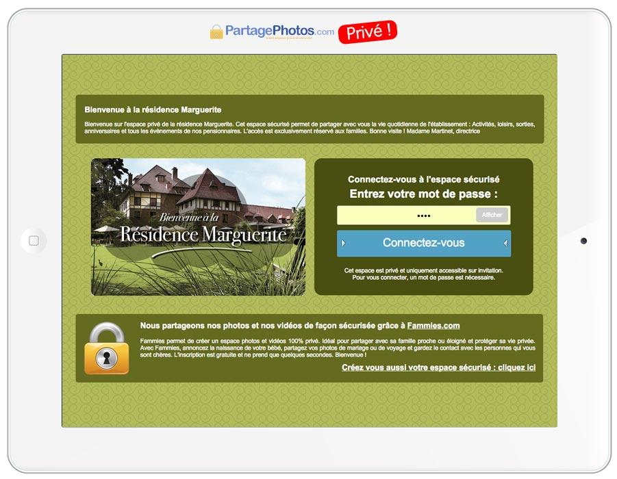 Blog ehpad avec accès privé pour les familles