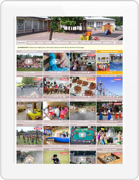 Blog ALSH sécurisé pour partager des photos avec les familles