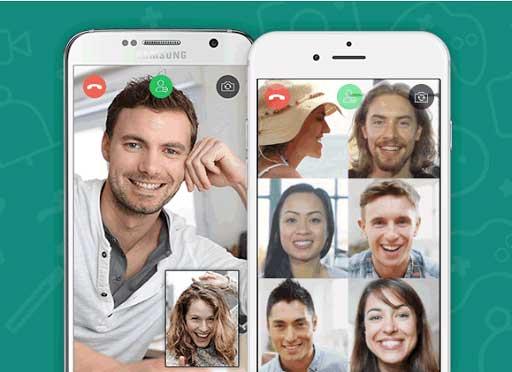 Sur Whatsapp, il est possible comme sur Skype de faire des multi call vidéo avec plusieurs contacts