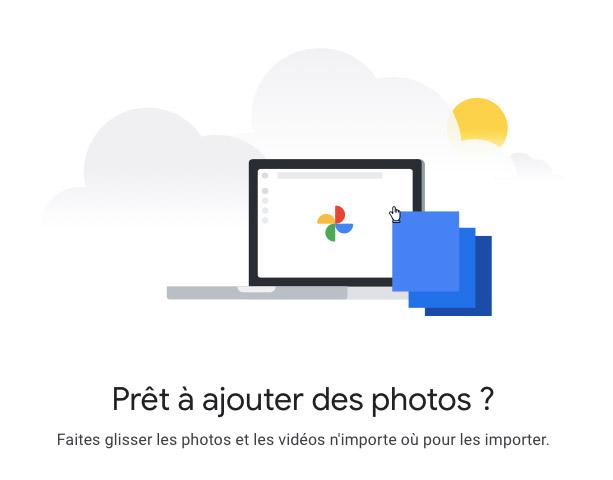 Pour utiliser Google photos sans installer l'application, il vous suffit d'avoir un compte Google, et d'être connecté pour pouvoir utiliser le service de cloud.