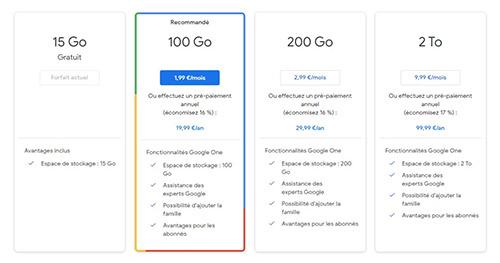 Google photos propose un service de cloud gratuit et payant en fonction du nombre de Go dont vous avez besoin.