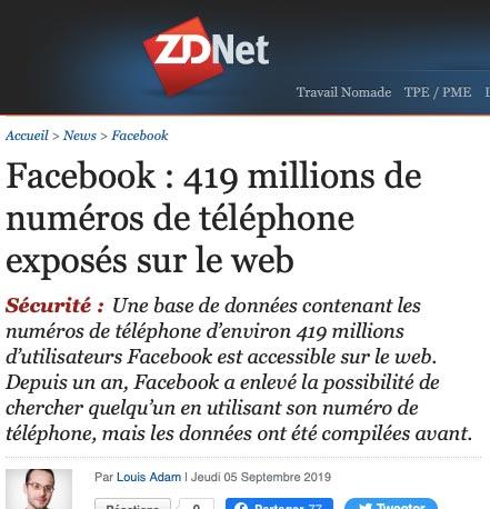 Attention au piratage de photos et données personnelles sur Facebook
